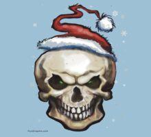 Evil Christmas Skull One Piece - Short Sleeve