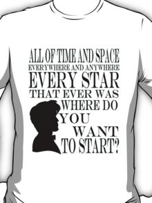 Doctor Who 'Time and Space'  T-Shirt