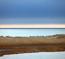 Cape Cod :Winter at Ridgevale Beach Panorama by Christopher Seufert