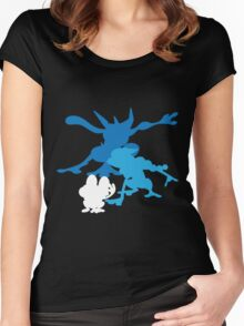 Froakie Frogadier Greninja Women's Fitted Scoop T-Shirt