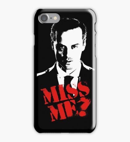Sherlock - Miss Me (Moriarty) iPhone Case/Skin