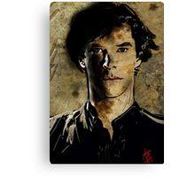 Portrait of Benedict Cumberbatch as Sherlock Holmes 2 Canvas Print