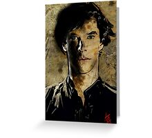 Portrait of Benedict Cumberbatch as Sherlock Holmes 2 Greeting Card