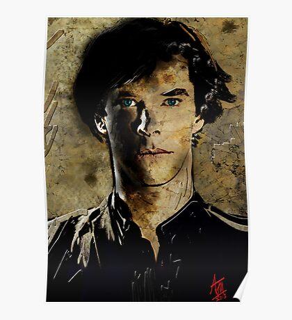 Portrait of Benedict Cumberbatch as Sherlock Holmes 2 Poster