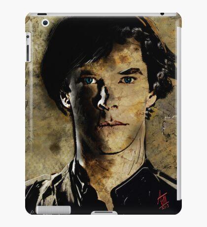 Portrait of Benedict Cumberbatch as Sherlock Holmes 2 iPad Case/Skin