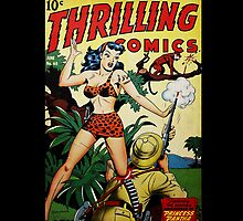 Retro Science Fiction Cover - Thrilling Comics by Jeff East