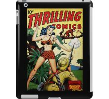 Retro Science Fiction Cover - Thrilling Comics iPad Case/Skin