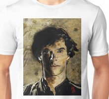 Portrait of Benedict Cumberbatch as Sherlock Holmes 2 Unisex T-Shirt