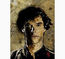 Portrait of Benedict Cumberbatch as Sherlock Holmes 2 Unisex T-Shirt