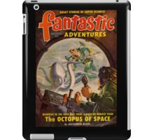 Retro Pulp Science Fiction comic cover  - Fantastic Adventures iPad Case/Skin
