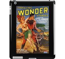 Retro Pulp Science Fiction comic cover  - Thrilling Wonder Stories iPad Case/Skin
