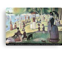Georges Seurat - A Sunday on La Grande Jatte Canvas Print