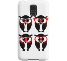 Owls with glasses Samsung Galaxy Case/Skin