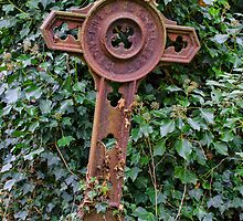 Iron grave marker  by picsl8