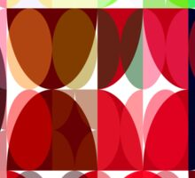 Mixed color Poinsettias 3 Abstract Circles 3 Sticker