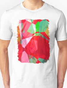 Mixed color Poinsettias 3 Abstract Polygons 2 T-Shirt