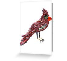 Steampunk Dada Cardinal (Red Cadillac Cardinal Bird Surrealist Collage) Greeting Card