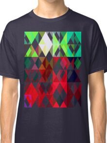 Mixed color Poinsettias 3 Abstract Triangles 1 Classic T-Shirt