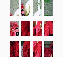 Mixed color Poinsettias 3 Art Rectangles 2 Unisex T-Shirt