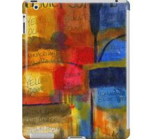 The Joy of Painting An Abstract Painting - iPad Cover iPad Case/Skin