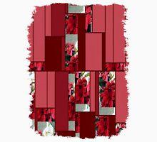 Mixed color Poinsettias 3 Art Rectangles 8 Unisex T-Shirt