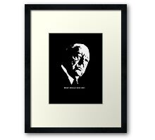 What would Mies do? Architecture T shirt Framed Print