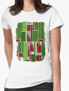 Mixed color Poinsettias 3 Art Rectangles 12 Womens Fitted T-Shirt