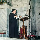Priest getting ready for service San Appollonaire en Classe Italy 198404150011   by Fred Mitchell