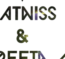 Katniss & Peeta <3 - Forest (personalisation available) Sticker