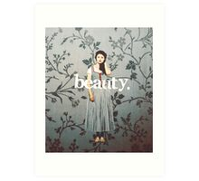 her name means beauty. Art Print
