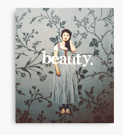 her name means beauty. Canvas Print