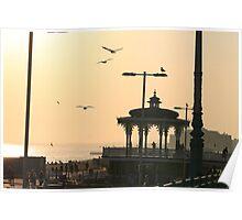 Brighton bandstand Poster