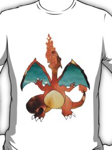 Space Pokemon #006 Charizard Clear Background T-Shirt