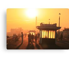 Hove seafront at sunset Canvas Print