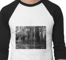 Dark Water - Caddo Lake near Uncertain, Texas Men's Baseball ¾ T-Shirt