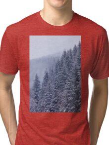 Snow-covered fir forest Tri-blend T-Shirt