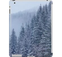 Snow-covered fir forest iPad Case/Skin