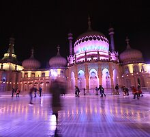 Ice skating in front of Brighton Pavilion by Emma Bennett