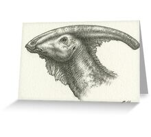 _Parasaurolophus_ Greeting Card