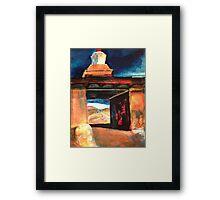 Stupa arch Framed Print