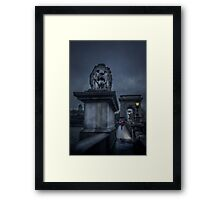 Rain On The Bridge Framed Print