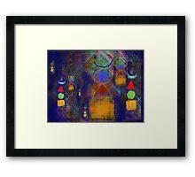 Stupa doodle Framed Print