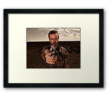 Breaking Bad Jesse gun Framed Print