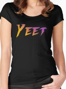 Yeet. Women's Fitted Scoop T-Shirt