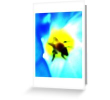 Abstract Morning Glory & Bumble Bee Greeting Card