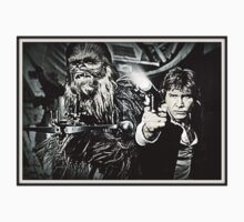 Star Wars Chewbacca Han Solo by Myrthh