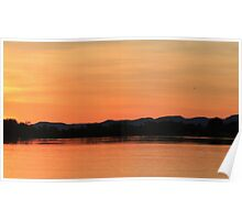 Sunset on the Ord River Poster