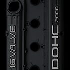 Mitsubishi Valve Cover 4G63 Black (Samsung Case)  by Hector Flores