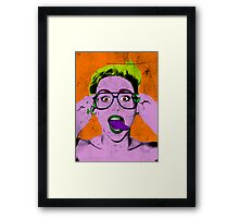 Miley Warhol Framed Print