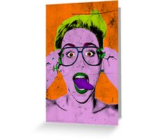 Miley Warhol Greeting Card